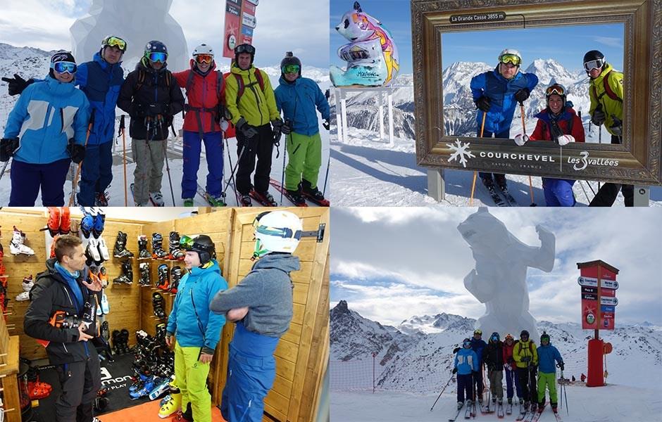 La team Ekosport au ski test de Courchevel