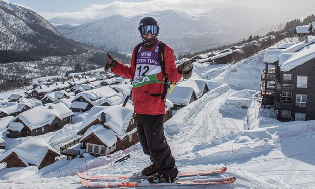 Hugo Laugier en Coupe du Monde de ski Big Air en Norvège