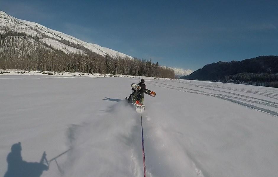 Marion Haerty en Alaska pour la 3ème étape du FWT