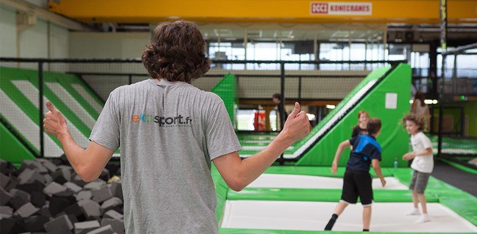 Séance de trampoline avec les athlètes du #TeamEkosport