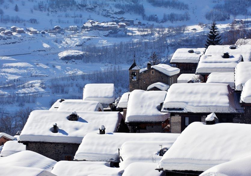 Skier à Sainte-Foy-Tarentaise