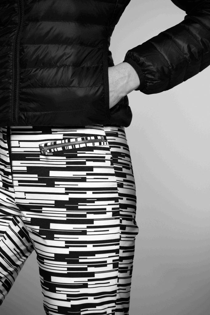 Eider Pantalon Sky Pant Black and White Close