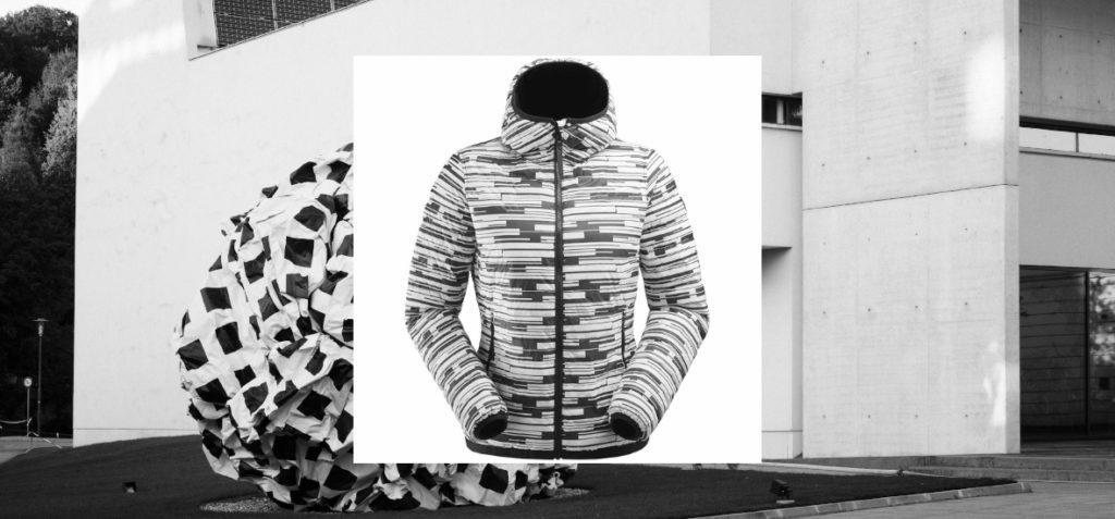 Eider Doudoune Black and White