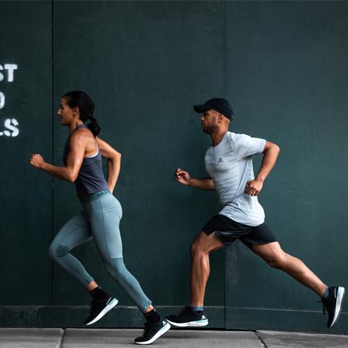 running avec chaussures sonic 3 de salomon