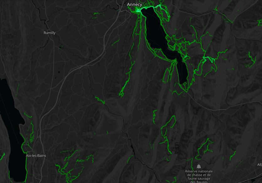 Heatmap rando-massif-bauges